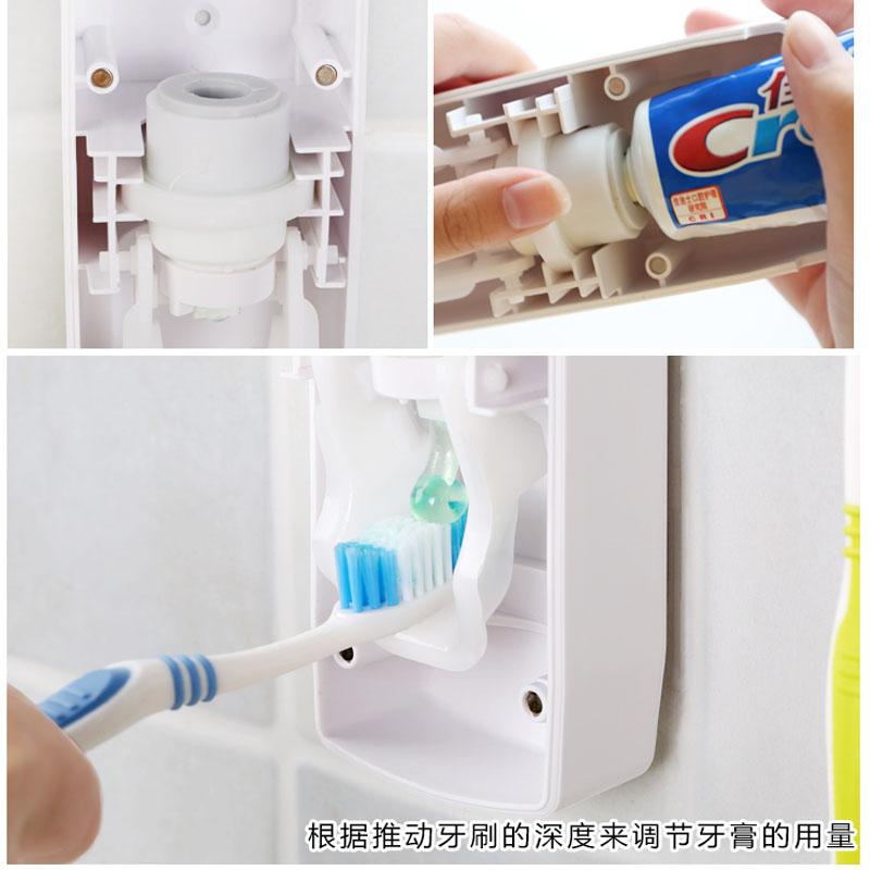Olet奥莱特自动挤牙膏器免打孔挂牙刷置物架全自动挤压牙膏器套装