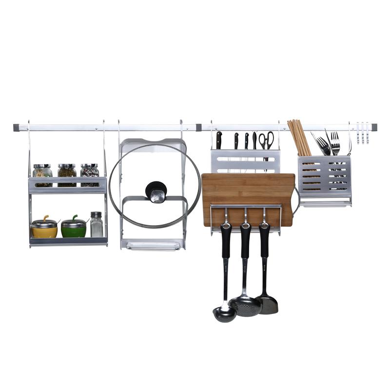 系列 9430 九牧太空铝魔术师厨房挂件组合刃架锅盖架砧板架 JOMOO