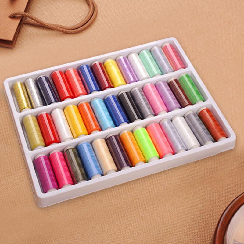 全色套装针线盒 颜色齐全 缝纫修补线 39色线