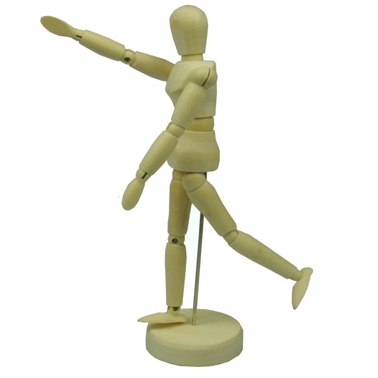 木制实木木偶人木头关节人偶 8寸 12寸 老师教学摆姿势关节人模型