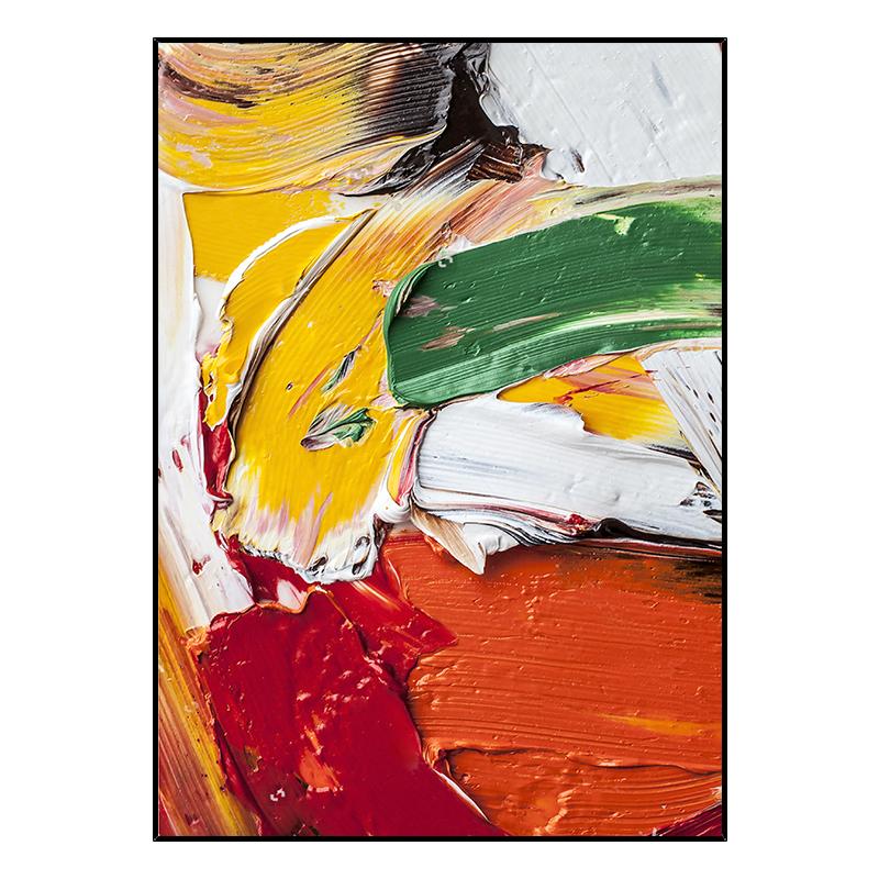 Notareart手繪油畫《斑斕》玄關立體抽象畫裝飾畫客廳背景墻掛畫