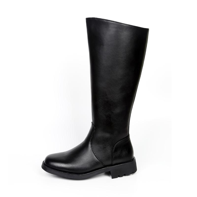 骑士皮靴 正品军靴马靴羊毛男靴高筒真皮牛皮阅兵靴长靴仪仗队靴