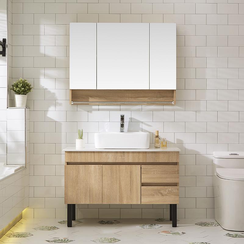 北歐浴室柜組合免漆現代簡約掛墻式洗手洗臉盆柜組合衛生間洗漱臺