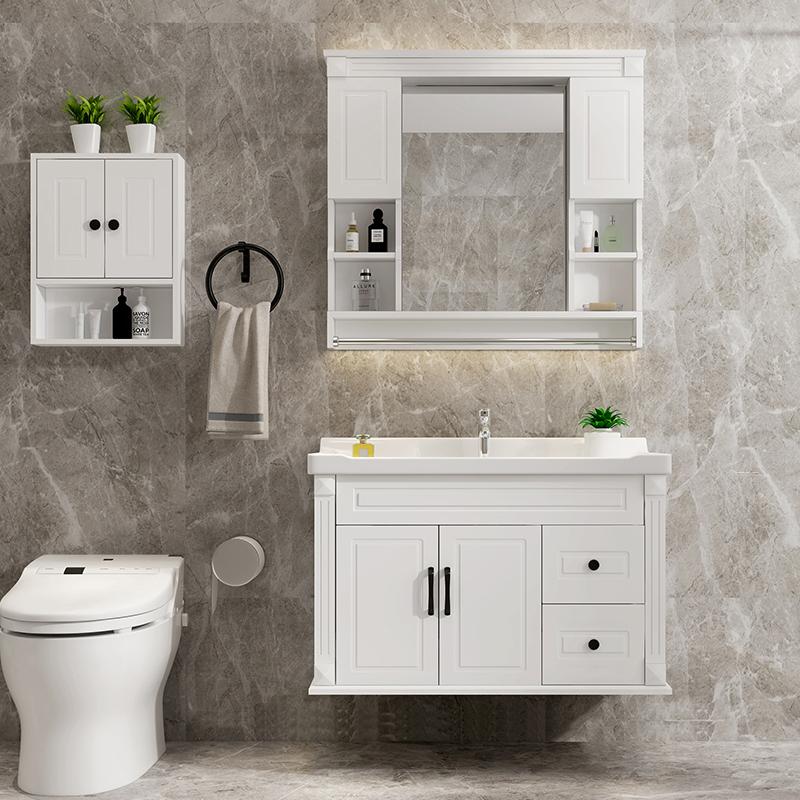 北欧浴室柜组合小户型卫生间落地式洗漱台洗手台盆柜洗脸池面盆