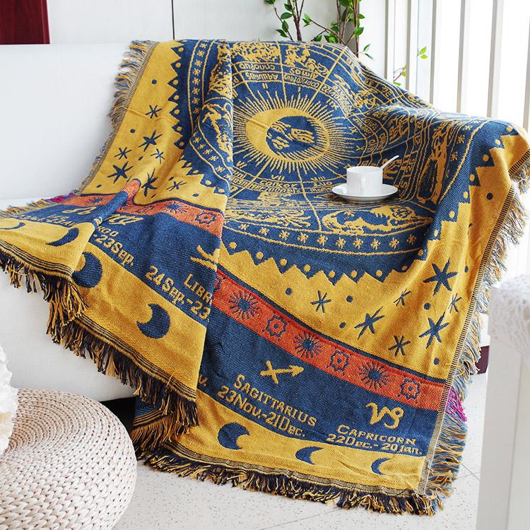 沙發防塵罩蓋毯沙發巾神祕星座布藝保護套加厚雙面使用