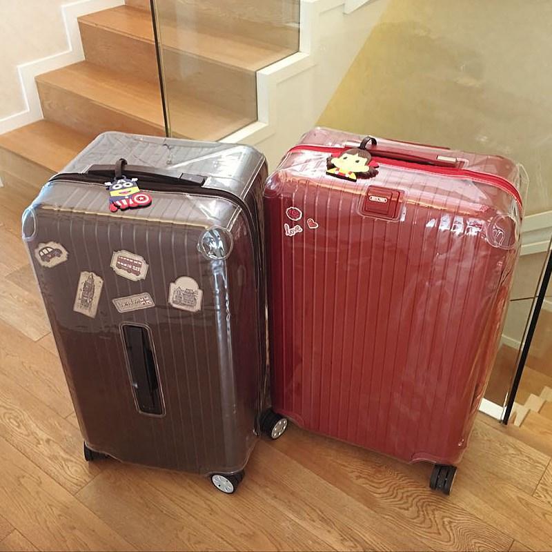 保护套无需脱卸行李箱拉杆箱套加厚 PVC 保护套箱套拉链透明 TOPAS
