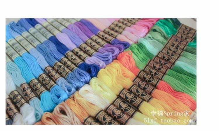 进口法国纯棉DMC常用50色十字绣绣线抖音手工刺绣diy短袖情侣t恤
