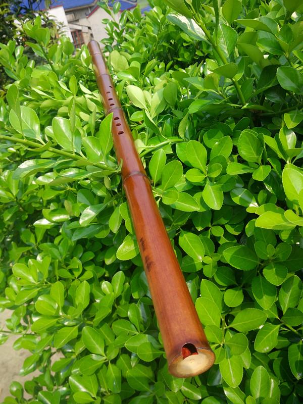 清风笛箫数十年老料烟熏竹纯手工特制一节专业演奏级洞箫琴箫