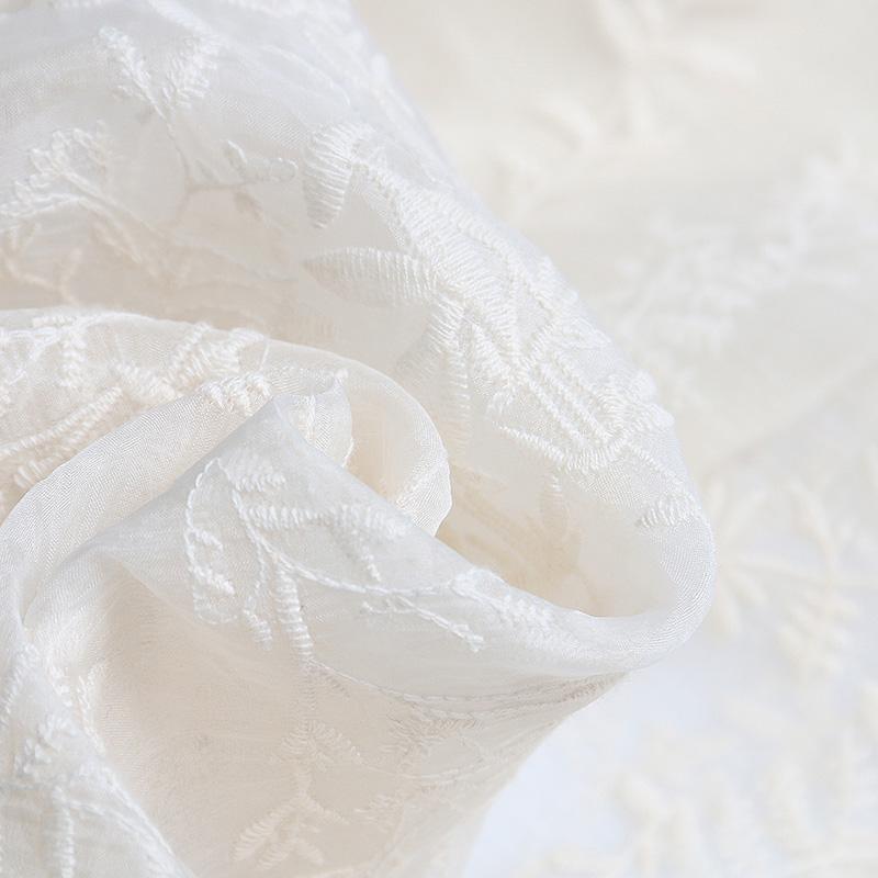 妃之影白色蕾丝连衣裙女2019夏季新款气质时尚宽松法式复古a字裙