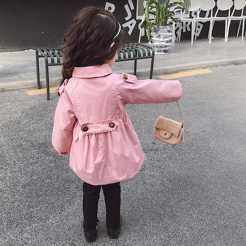 女童风衣外套春秋2019新款洋气韩版中长款儿童秋季上衣女宝宝秋装