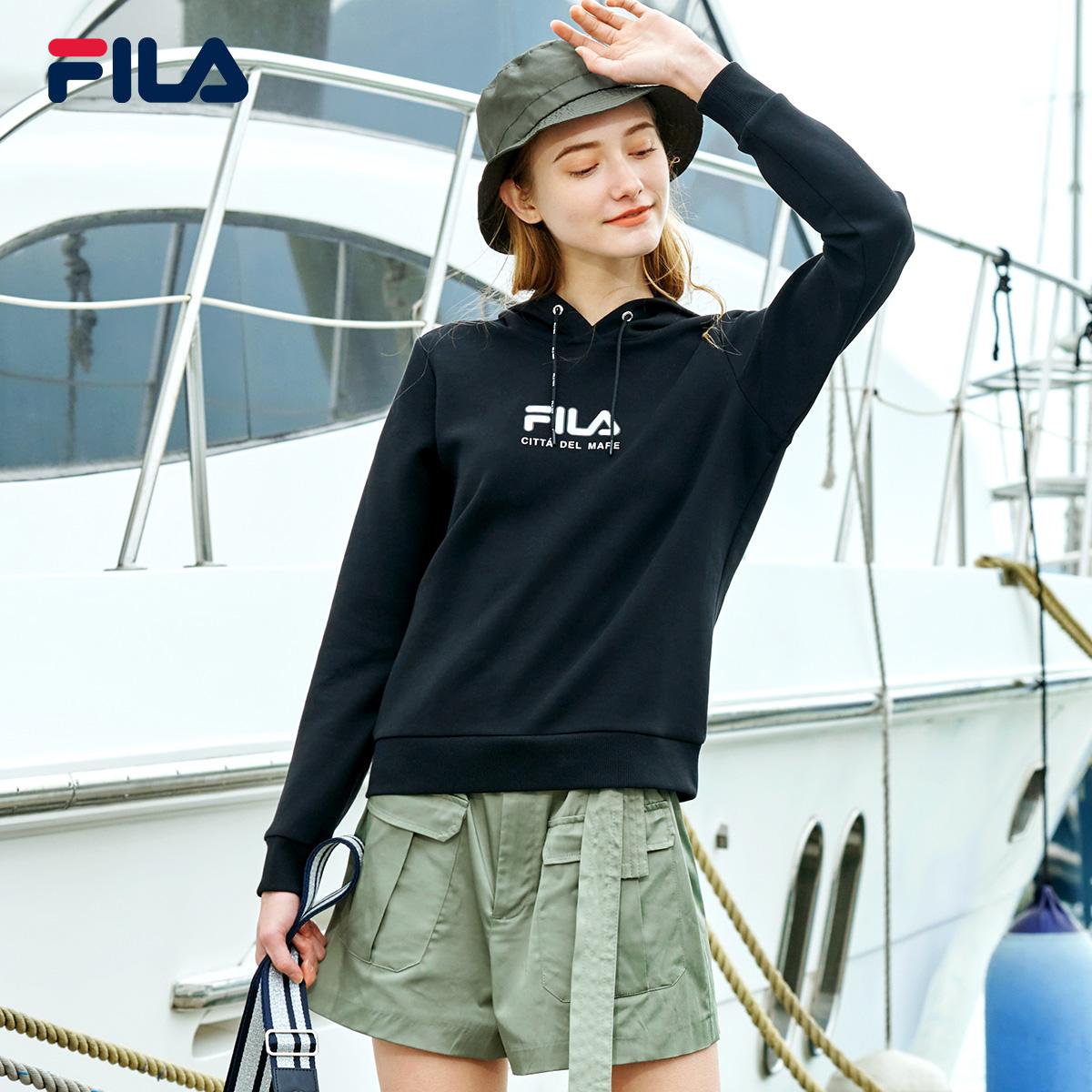 FILA 斐乐官方 女子连帽卫衣 2020春季新款舒适休闲运动长袖衫