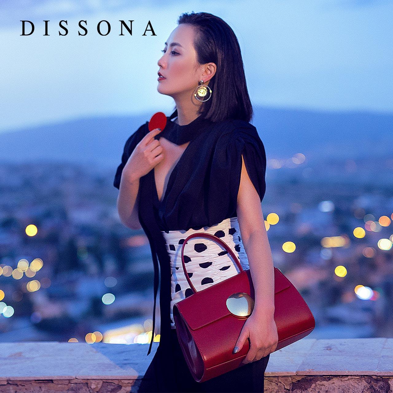 迪桑娜女包時尚歐美手提包 祕印系列小眾輕奢包包真皮挎包殺手包
