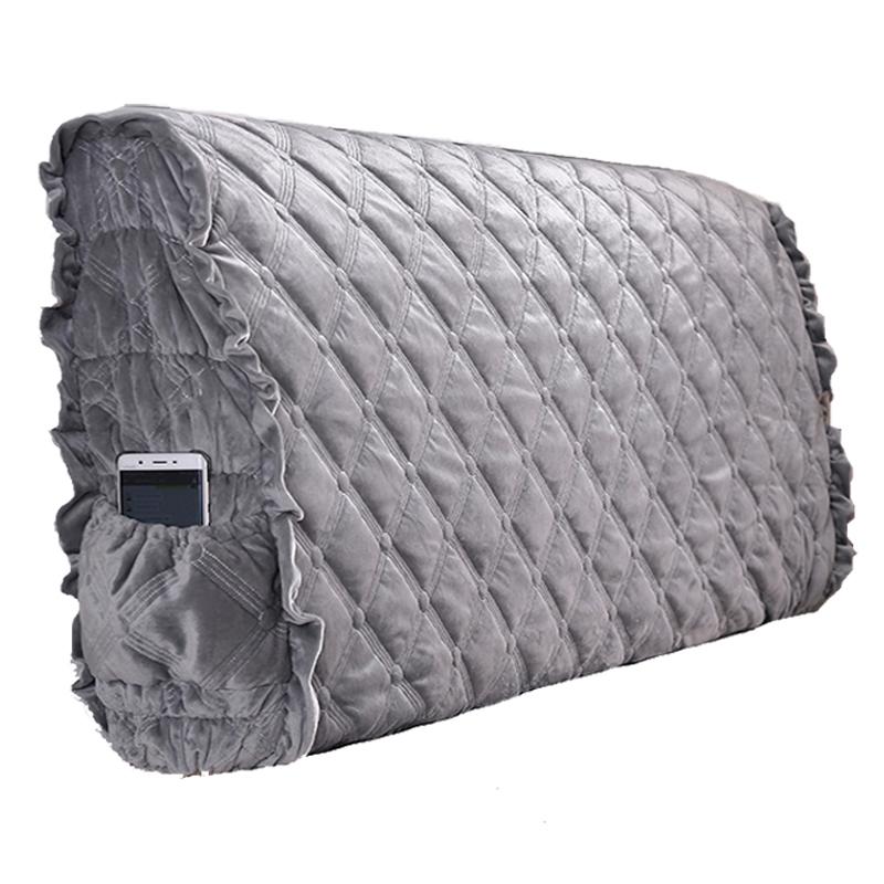 韩版靠背罩夹棉床头罩布艺皮艺床头套全包皮床靠背罩防尘罩1.8m床