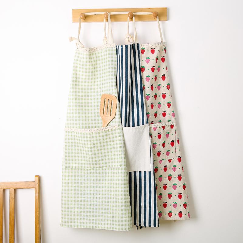 家用厨房做饭韩版时尚防水防油工作围裙男式女式成人可爱罩衣围腰