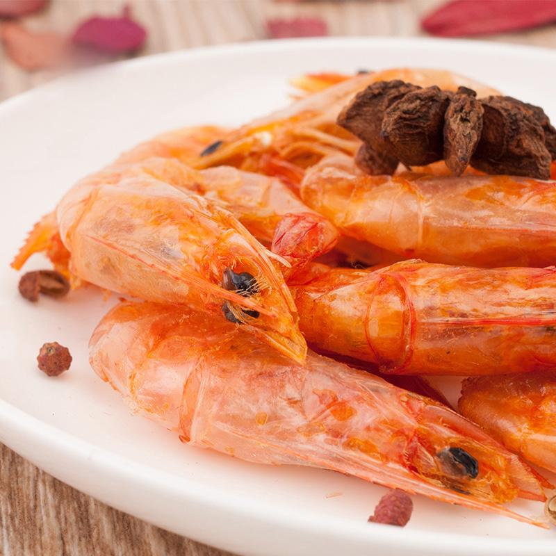 巷仔边干脆虾烤虾冻干虾老大对虾即食香辣大虾干孕妇海味小零食品