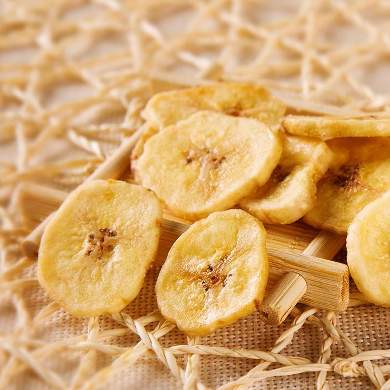 嘀嗒猫香蕉片150g*2袋休闲食品蜜饯水果干烤香蕉脆片芭蕉干小零食