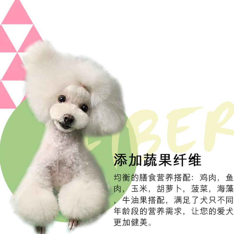 汤恩贝狗粮X2蔬果祛泪痕通用型犬粮1.5kg小型犬狗粮泰迪比熊博美优惠券