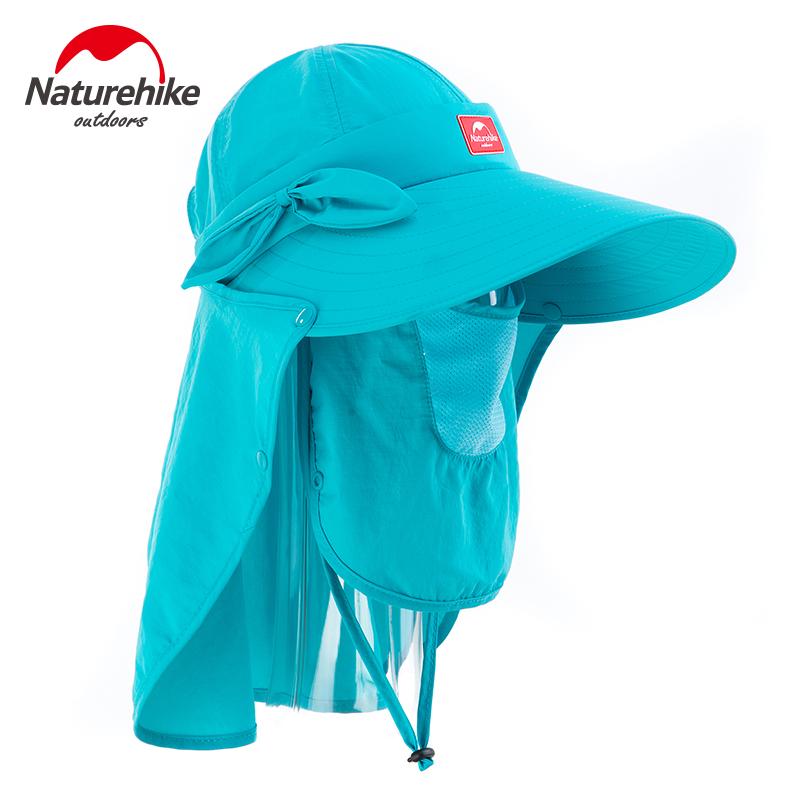 NH夏天防蚊帽钓鱼防晒帽子女士遮阳帽户外透气大沿帽 钓鱼帽