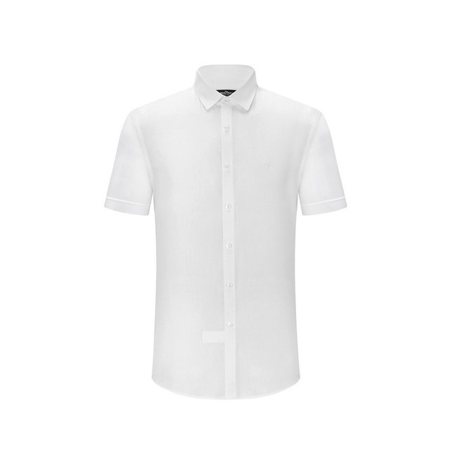 Qipai new men short lining men's business casual shirt dress shirt skin-friendly breathable short-sleeved shirt