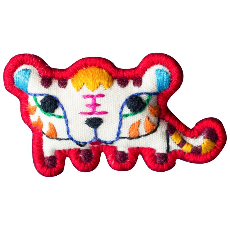 十二生肖项链 文艺锁骨链  原创设计手工刺绣复古创意棉麻配饰民族