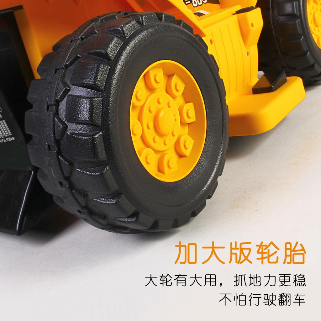 大号儿童电动工程车挖掘机可坐可骑推土玩具车仿真模型四轮工程车