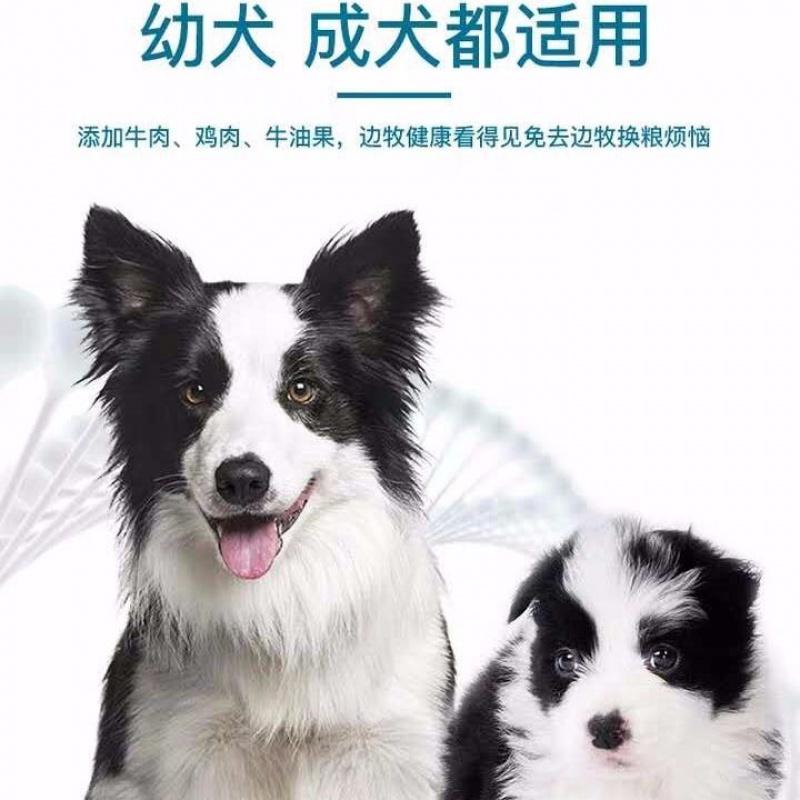 边牧专用狗粮5/10/20斤边牧成犬幼犬通用20斤装美毛补钙天然粮优惠券