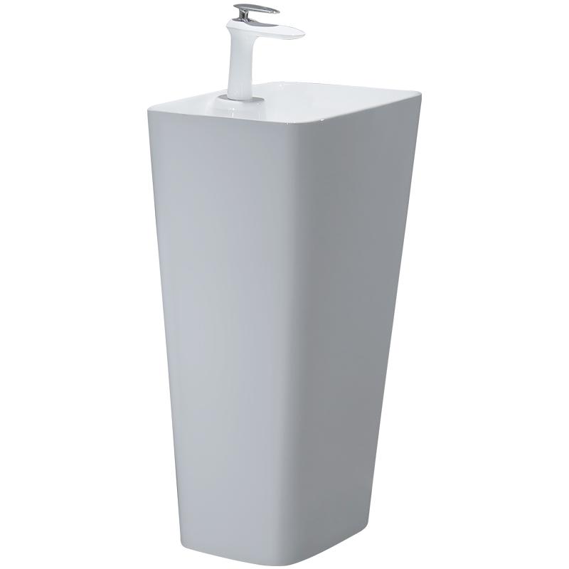 阳台立柱盆落地式一体洗脸盆陶瓷卫生间洗面盆小户型洗手台盆包邮