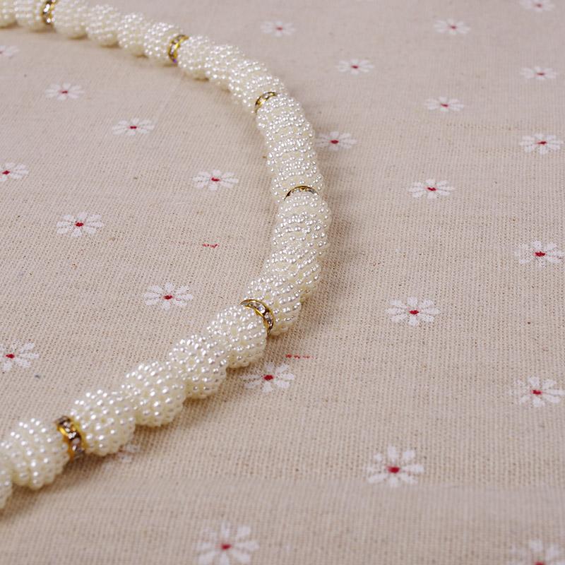 千俏珍珠腰链女士细腰带装饰链子时尚珍珠腰带夏细腰封
