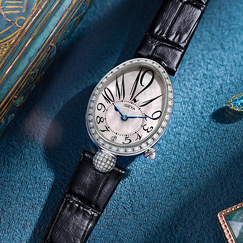 格雅手表女简约气质女表那不勒斯皇后名牌十大品牌正品高级感 GEYA