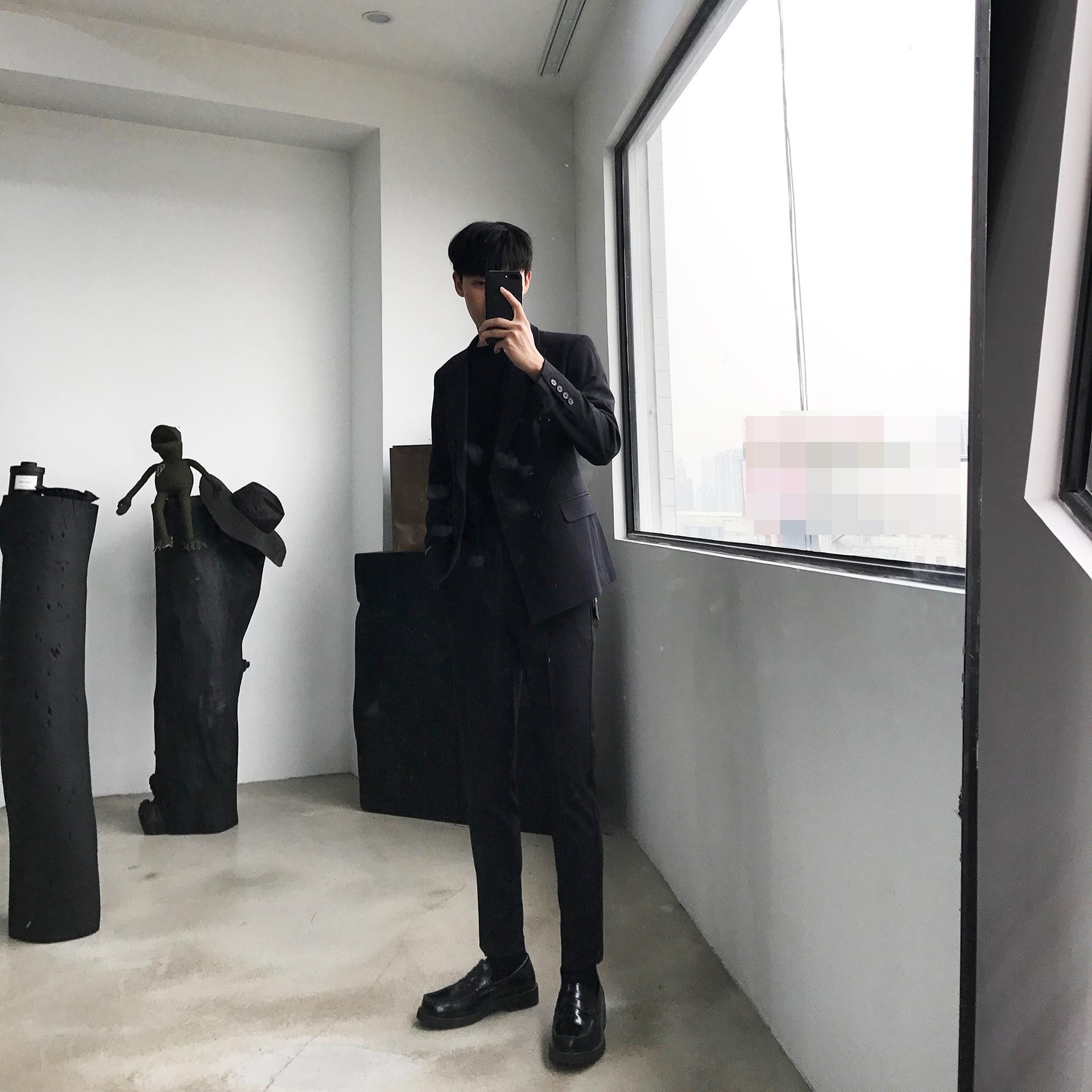 CCJE 秋季垂感西裤男韩版青年男士西装裤修身小脚免烫休闲九分裤