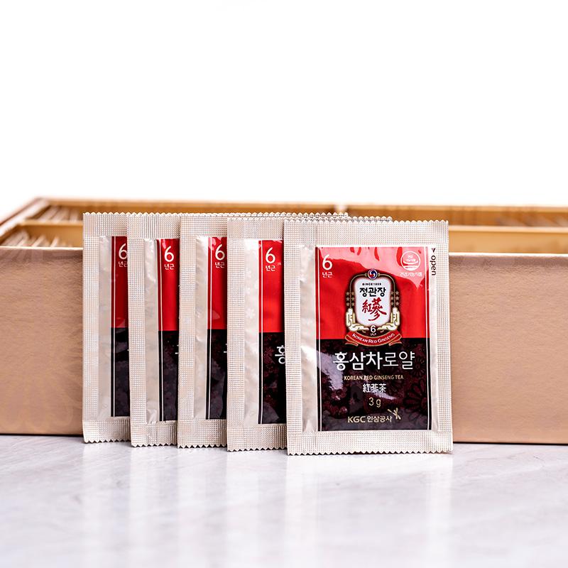 韩国正官庄红参茶3g*50包六年根高丽参人参茶包邮