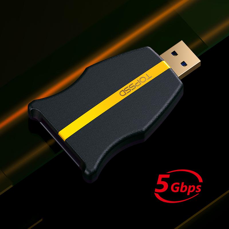 【新品】天硕(TOPSSD)专业级UHS-II双芯高速SD读卡器 USB3.0