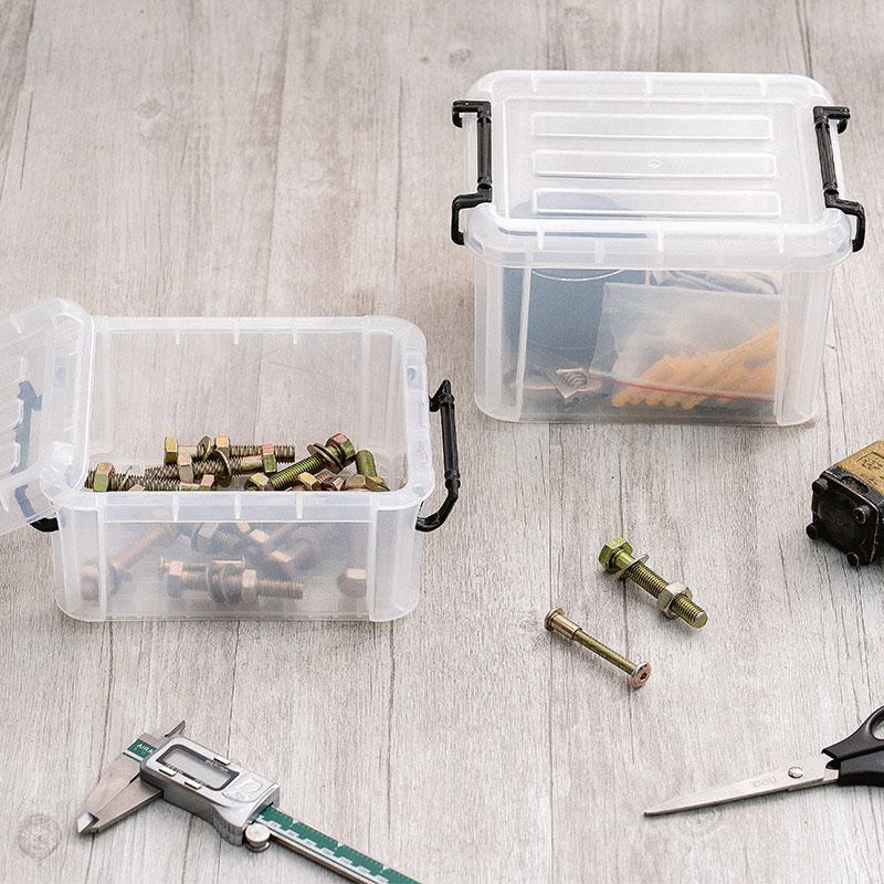 爱丽思IRIS透明加厚塑料大小号收纳整理箱盒零件玩具被子衣物有盖