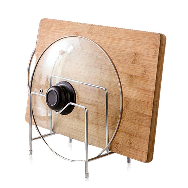切菜板架子不鏽鋼廚房多功能鍋蓋刀砧板支架家用案板架收納置物架