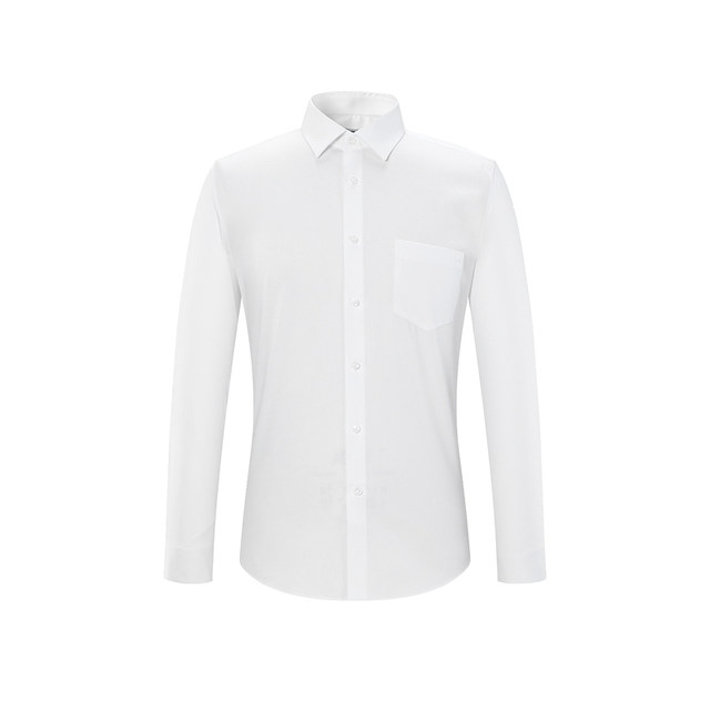HLA / Haishu House classic easy long sleeve shirt male business dress-aired post lapel slim white shirt male