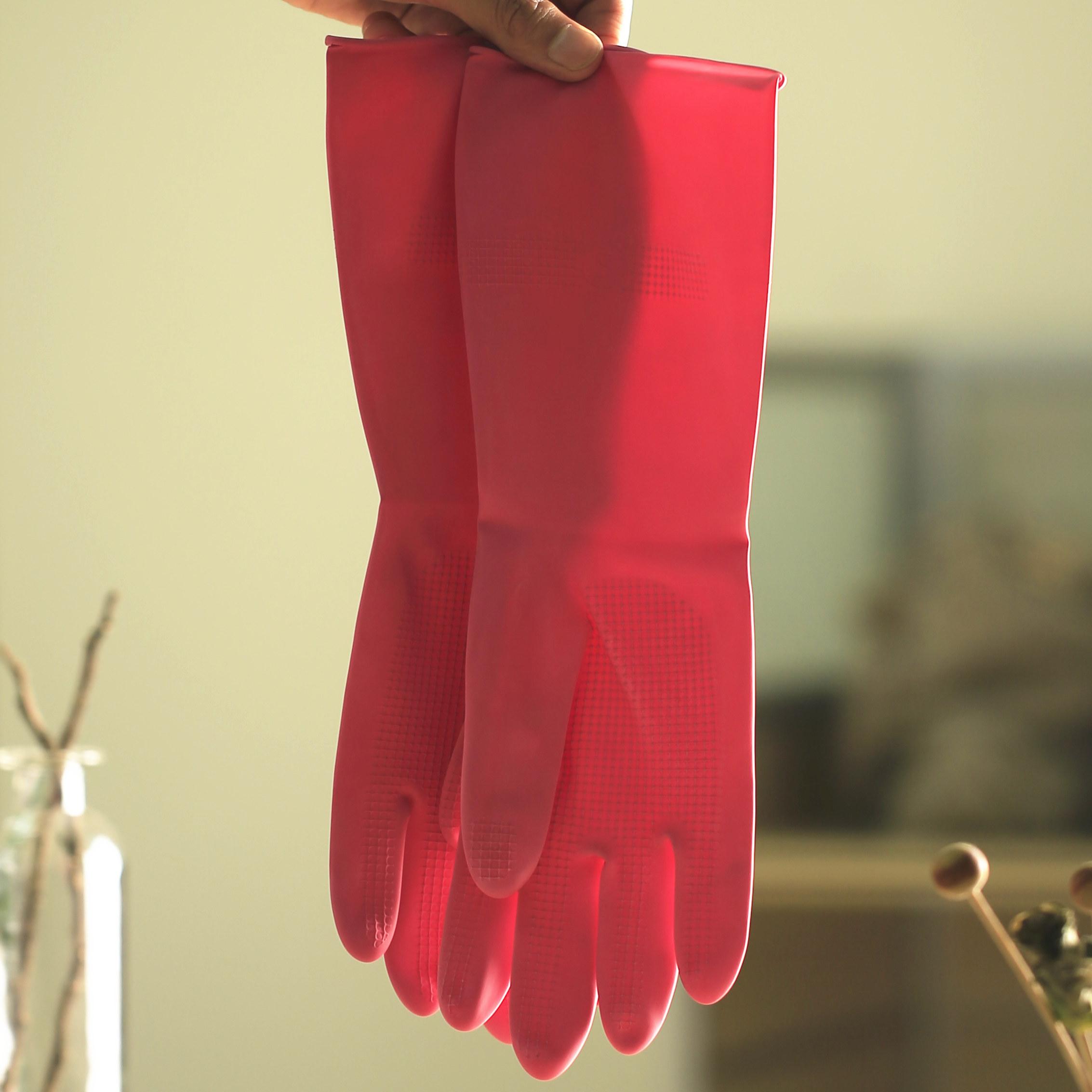 10件包邮云蕾橡胶家务清洁女士加长加厚保暖耐用洗衣洗碗手套