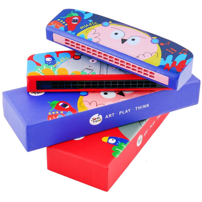 美乐儿童口琴玩具吹奏乐器宝宝口琴初学小孩16排双孔卡通动物木质