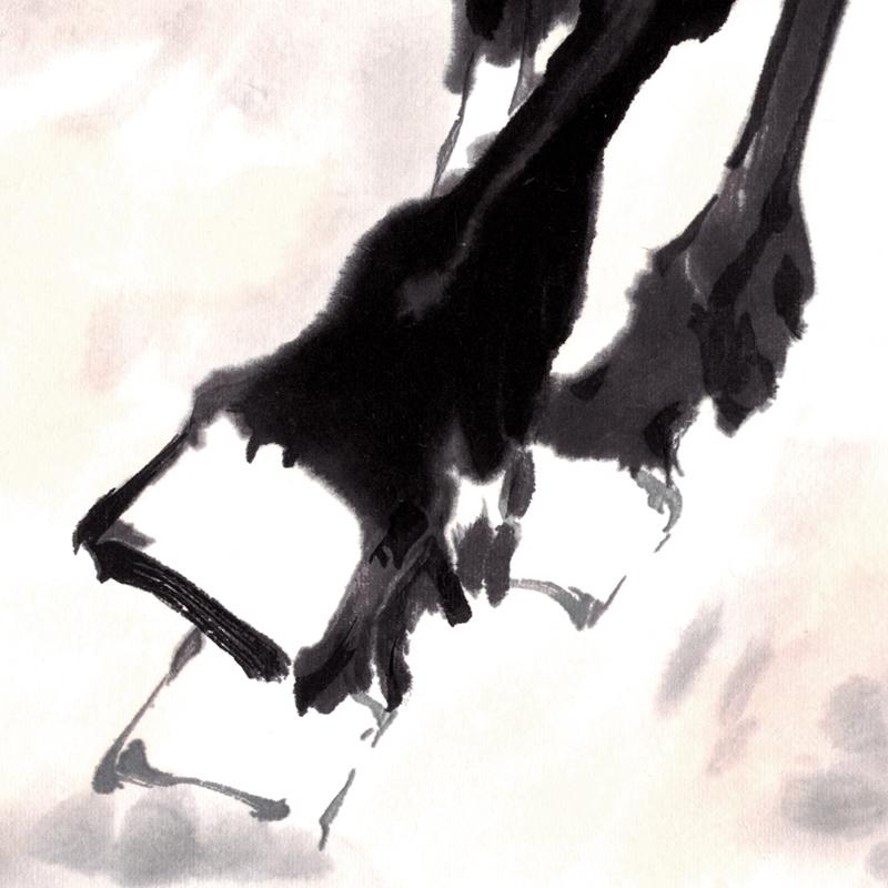 徐悲鸿平原奔马图八骏图中国画字画书画客厅卧室书房背景墙装饰画