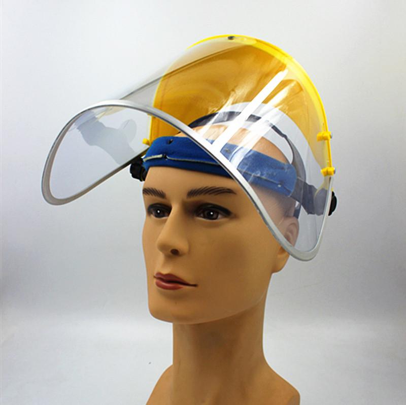 头盔式面屏打磨厨房炒菜防飞溅隔热实验室包邮 透明防护面罩面俱