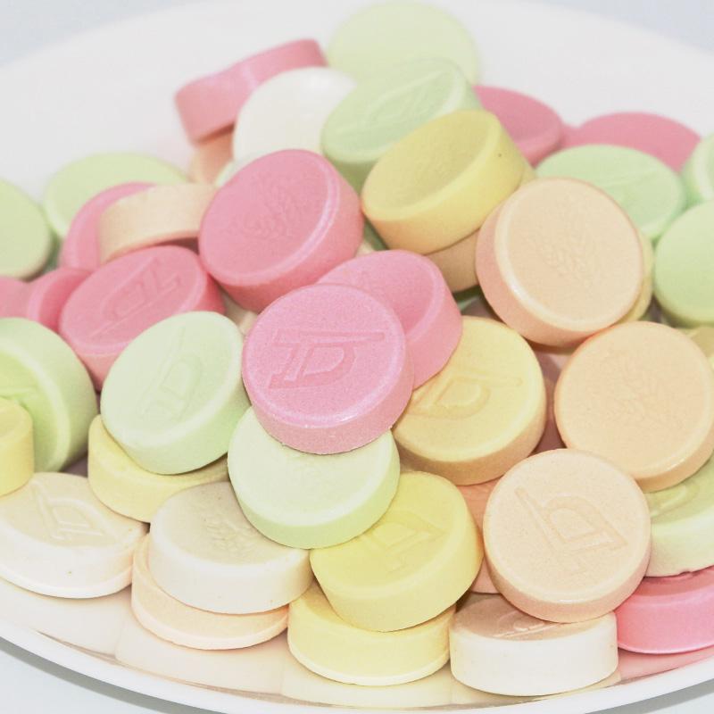多口味 儿童零食干吃奶片 盒 20 180g 香港富巧奶片压片糖