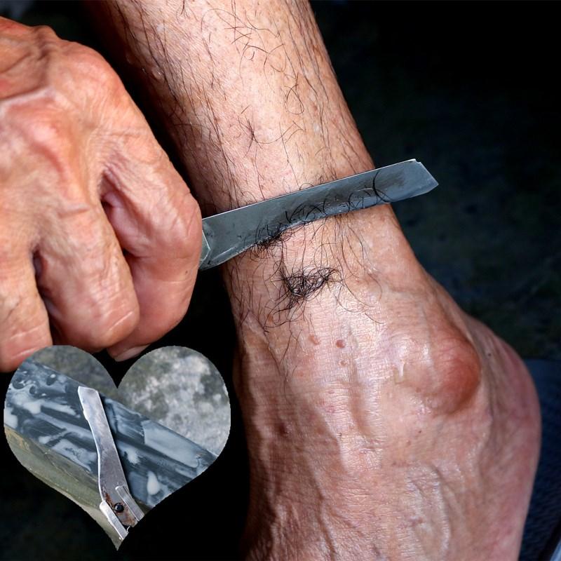 天然磨刃石家用磨菜刃开刃油石条双面打磨超细磨石砥石青石浆石