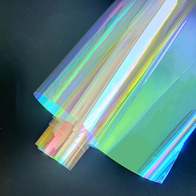 炫彩膜幻彩镭射纸七彩玻璃纸贴膜透光滴胶手工彩虹膜彩色透明贴纸 No.2