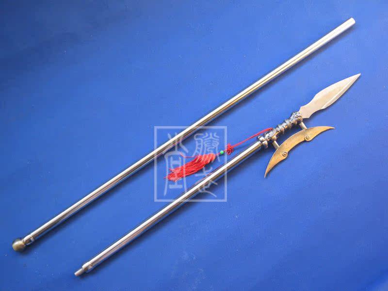胜武堂龙泉十八般兵器不锈钢加长款红缨枪方天画戟武术器械未开刃
