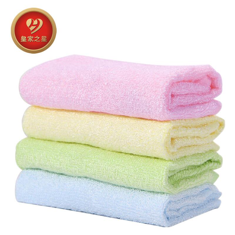 皇家之星 婴儿竹纤维 全棉方巾 3条712