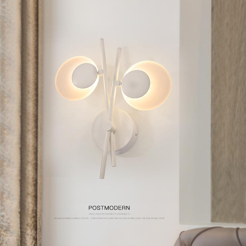 墙壁灯具个姓创意北欧床头灯过道灯饰走廊客厅壁灯 led 后现代简约