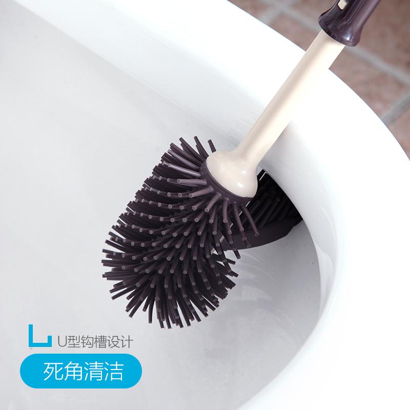卫生间马桶刷套装无死角家用洗厕所清洁蹲便器刷子软毛长柄去死角