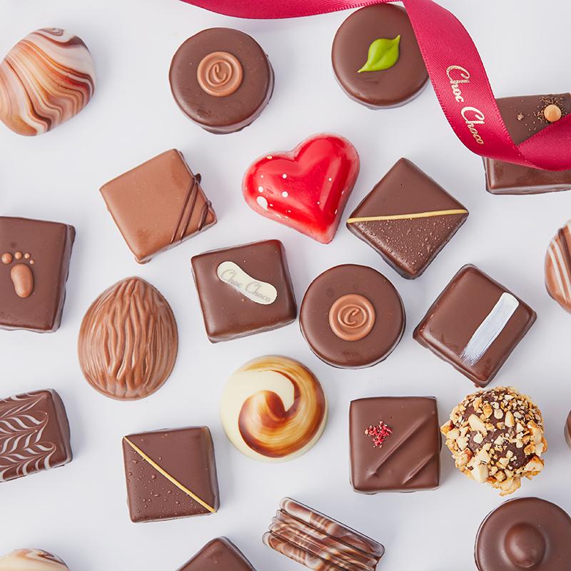 巧克巧蔻手工定制夹心巧克力礼盒装创意女神节情人节礼物送女友