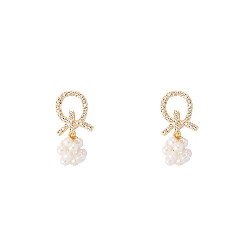 自留珍珠耳钉韩国气质网红耳环女耳夹无耳洞高级感简约小巧耳钉