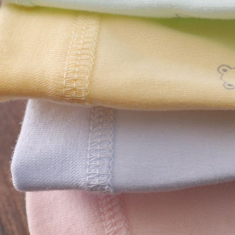 0-6个月春秋婴儿纯棉上衣单件9男女宝贴身无骨对襟长袖开衫12线衣 - 图0
