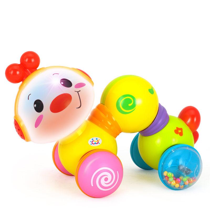 汇乐玩具997爬行小虫婴幼儿学步亲子互动按压益智早教音乐0-12月